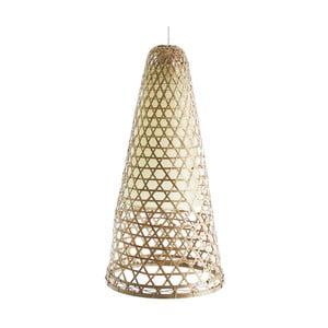 Závesné bambusové svietidlo VICAL HOME Adelia, Ø30 cm