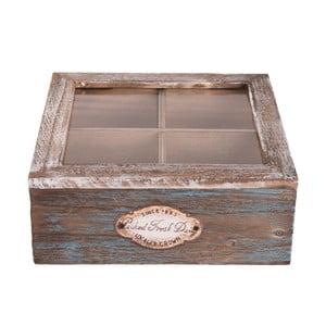Drevený úložný box na čaj Clayre & Eef Melico