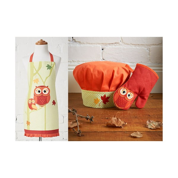 Detská sada zástery, čapice a kuchynskej rukavice Harvest