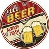 Sklenené hodiny Cold Beer, 30 cm