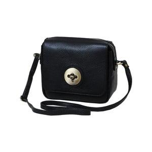 Čierna kabelka z pravej kože Andrea Cardone Alessio