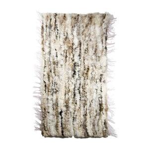 Koberec z ovčej kože 60x160 cm, svetlý