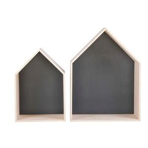Sada 2 čiernych poličiek Nørdifra House