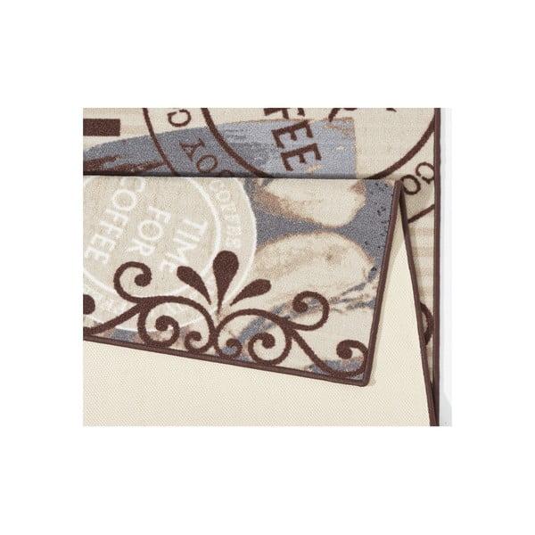 Hnedý kuchynský koberec Hanse Home Coffe Time, 67x180cm