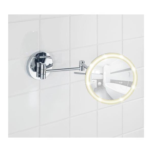 Nástenné kozmetické zrkadlo s LED svetlom Wenko Aura