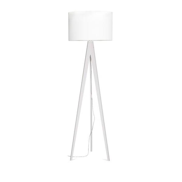 Biela stojacia lampa 4room Artist, biela breza lakovaná, 150 cm