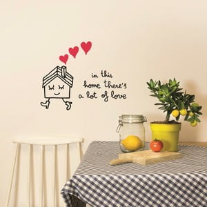 Samolepka In This Home, 28x31 cm