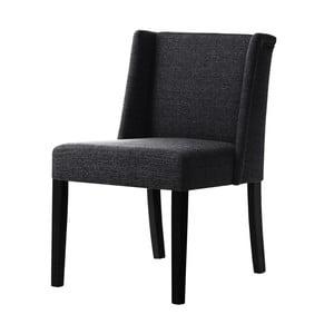 Čierna stolička s čiernymi nohami Ted Lapidus Maison Zeste