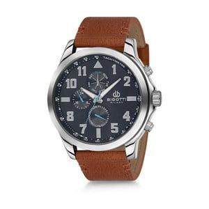 Pánske hodinky s hnedým koženým remienkom Bigotti Milano Duran