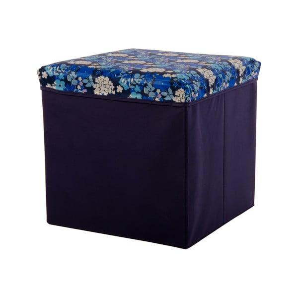 Veľká úložná krabica Puff Blue, 38x38 cm