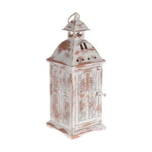 Kovový lampáš Antique White