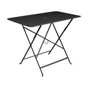 Čierny záhradný stolík Fermob Bistro, 97×57 cm