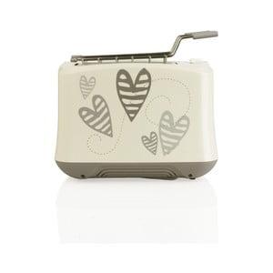 Toaster s motívom srdiečok z antikoro ocele Brandani