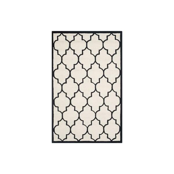 Vlnený koberec Everly 152x243 cm, biely/čierny