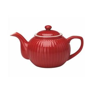 Červená kameninová kanvice na čaj Green Gate Alice, 1 l