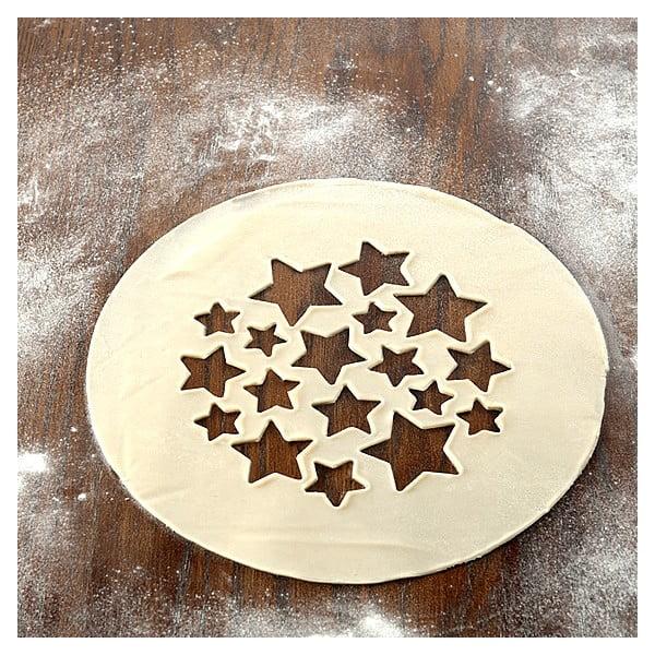 Obojstranný vysekávač na koláče, hviezdy a čerešne