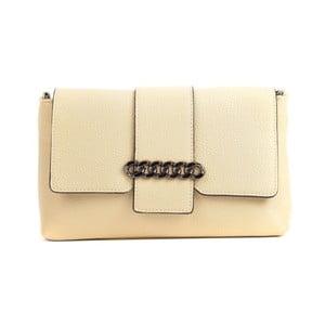 Béžová kožená kabelka Mangotti Bags Baso
