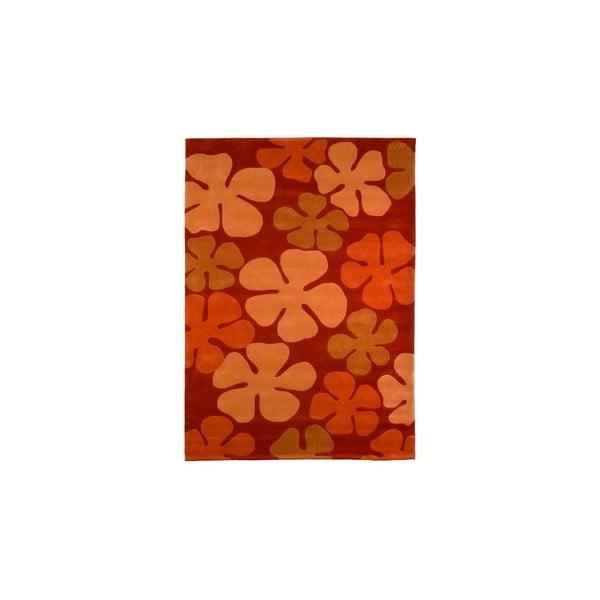 Ručne tkaný koberec Calypso, 140x200 cm, oranžový