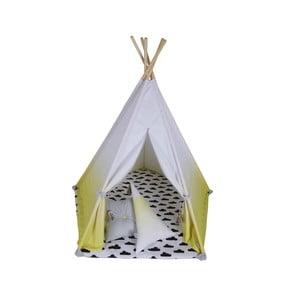 Päťuholníkové bielo-žlté teepee Vigvam Design Ombré