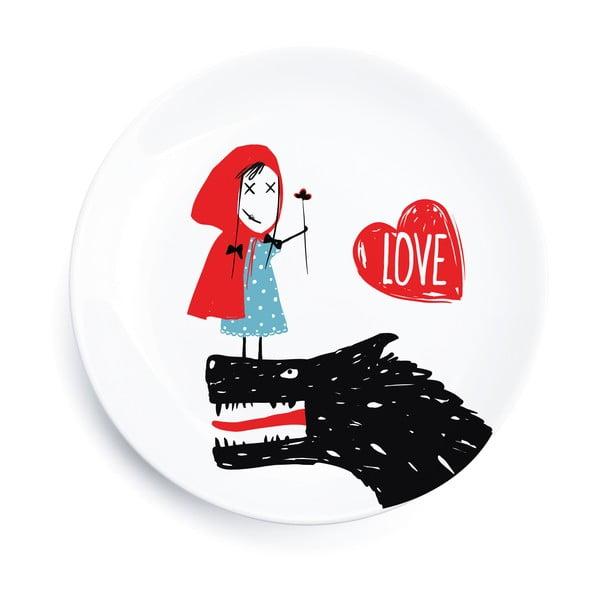 Sada 4 porcelánových tanierov We Love Home Little Red