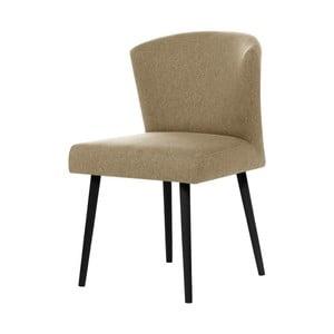 Pieskovohnedá stolička s čiernymi nohami My Pop Design Richter
