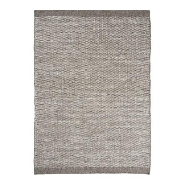 Vlnený koberec Asko, 170x240 cm, svetlosivý