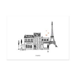 Plagát Leo La Douce Paris Mon Amour, 21x29,7cm