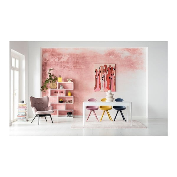 Sada 4 ružových jedálnych stoličiek Kare Design CandyWorld