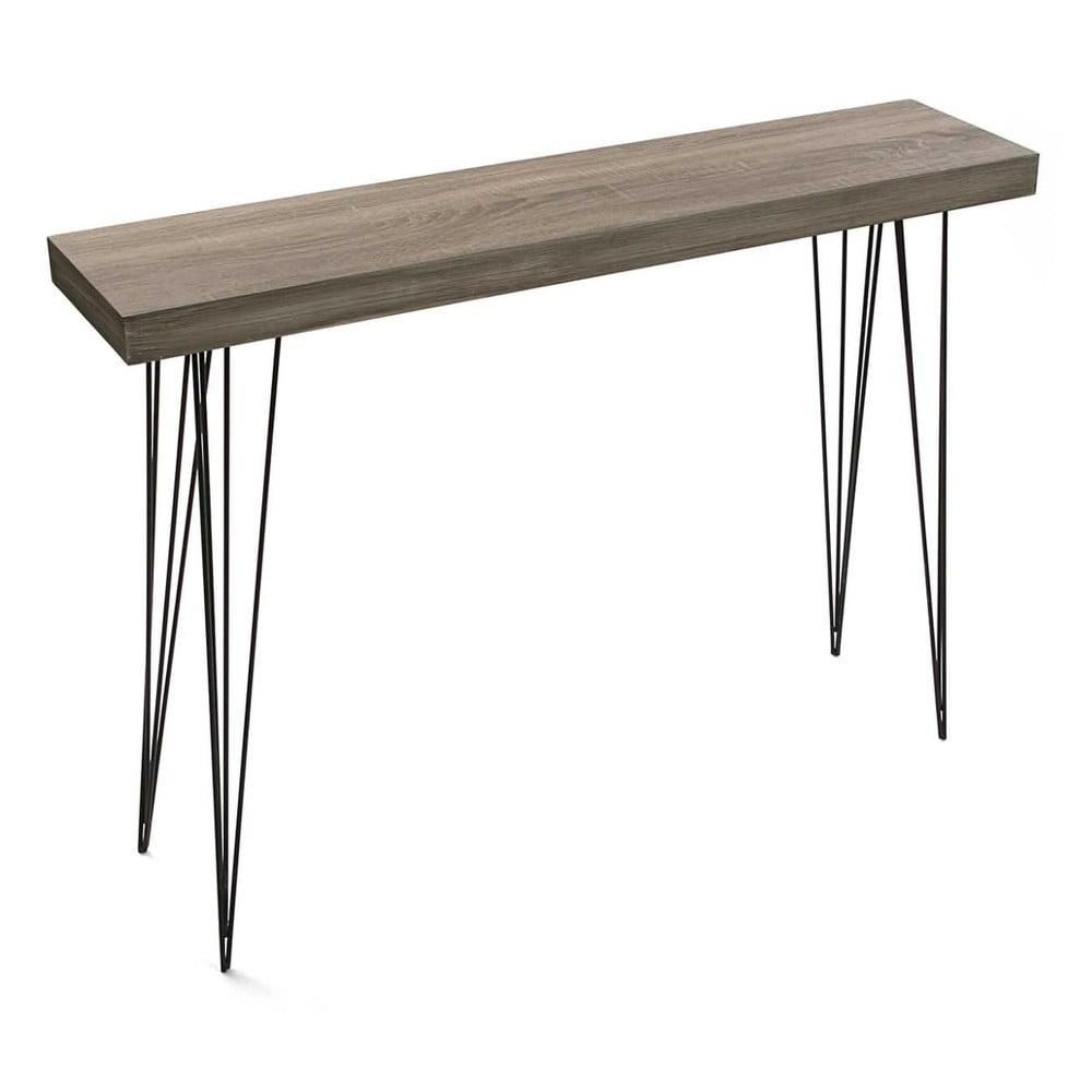 Stolík z dubového dreva Versa Dallas, 110 × 25 cm