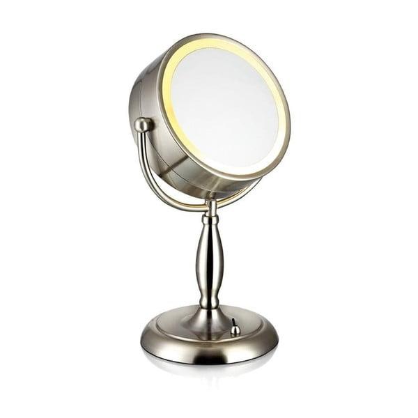 Stolová zrkadlo s osvetlením v striebornej farbe Markslöjd Face