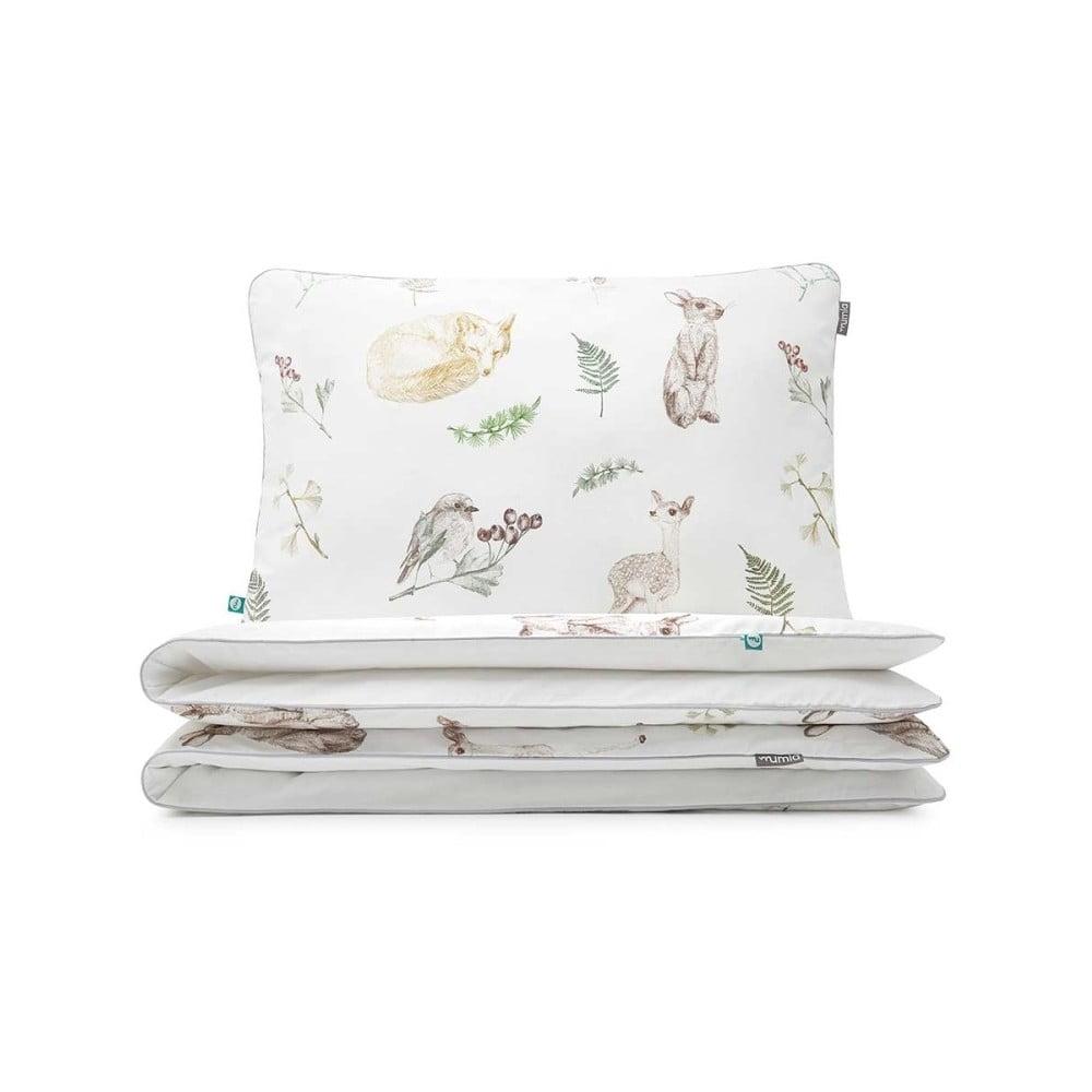Detské bavlnené posteľné obliečky Mumla Forest Friends, 90 × 120 cm