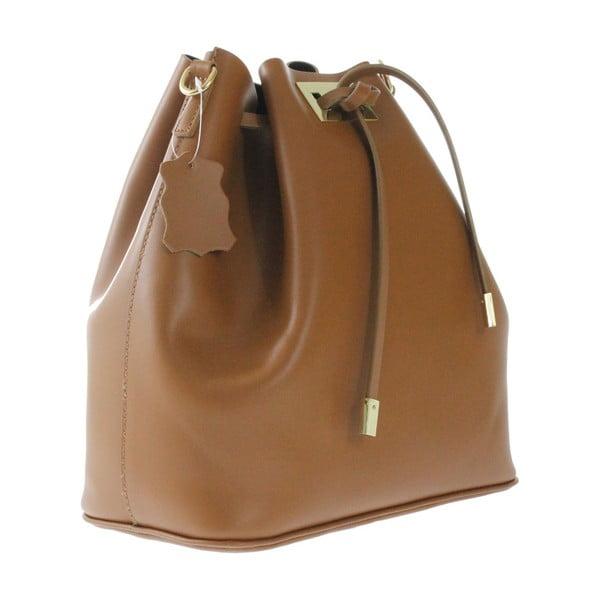 Hnedá kožená taška Erica