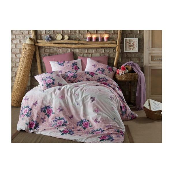 Bavlnené obliečky s plachtou na dvojlôžko Granada, 200 × 220 cm