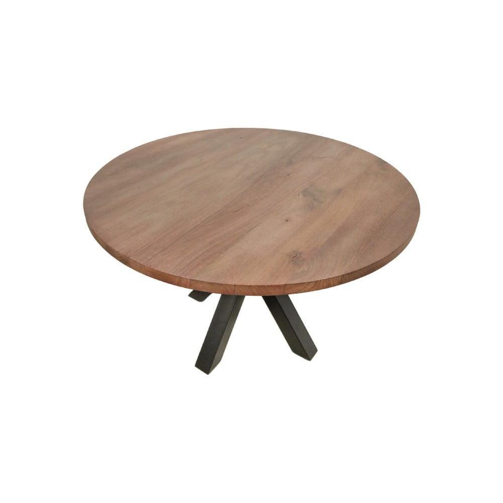 Guľatý jedálenský stôl s doskou z mangového dreva HMS collection, ⌀ 130 cm
