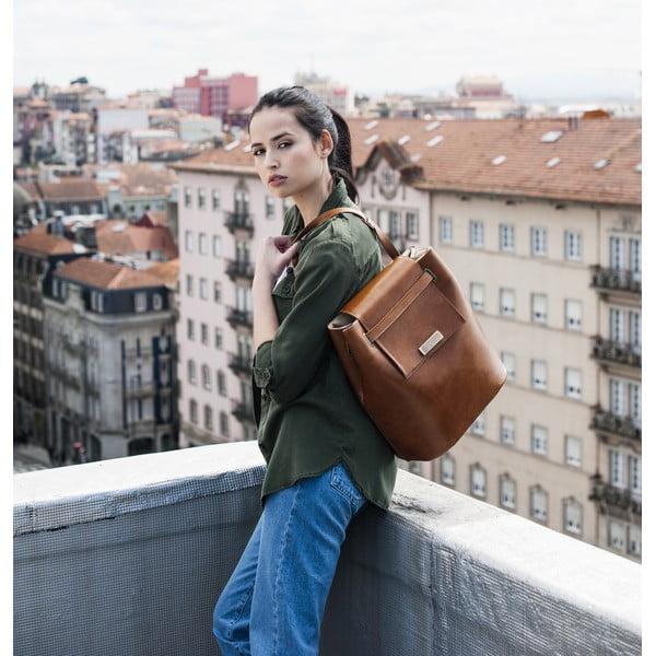 Kožená kabelka Maria Maleta Bucket Classic