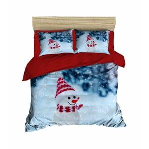 Vianočné obliečky na dvojlôžko s plachtou Leo, 200×220 cm