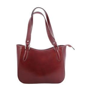 Hnedá kožená kabelka Chicca Borse Sandrine