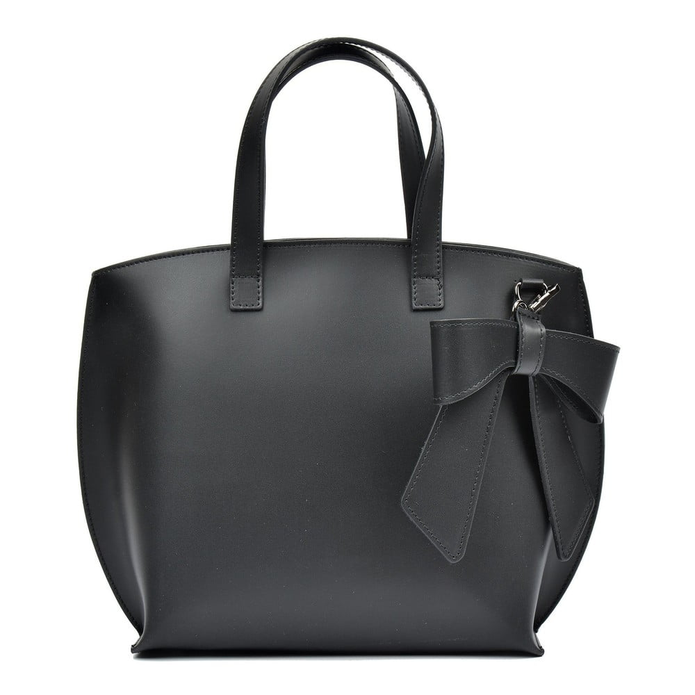 Čierna kožená kabelka Luisa Vannini Lia