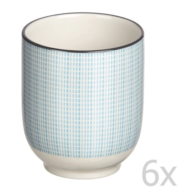 Sada 6 pohárov Pam-Pam Turqouise