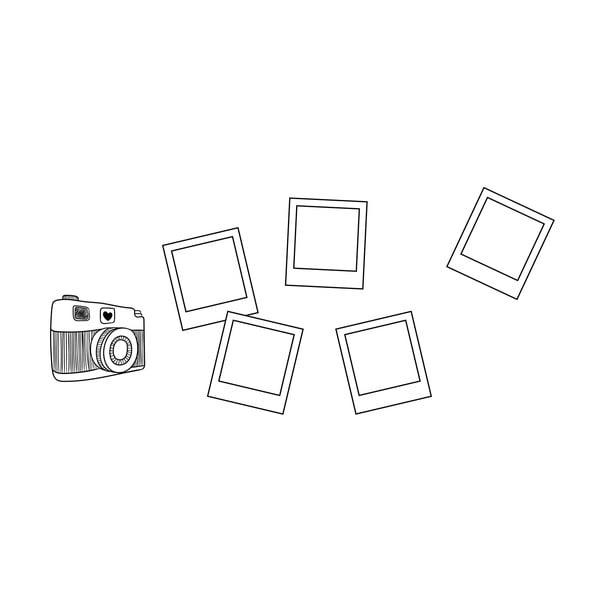 Samolepka na stenu Polaroid