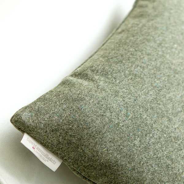 Vlnený vankúš Tweed 60x60 cm, zelený