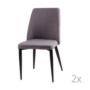 Sada 2 svetlosivých jedálenských stoličiek sømcasa Melissa
