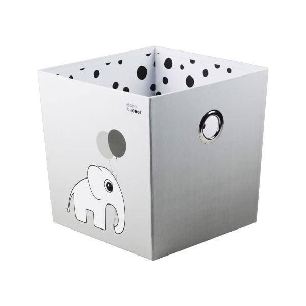 Úložný box Happy Dots, sivý