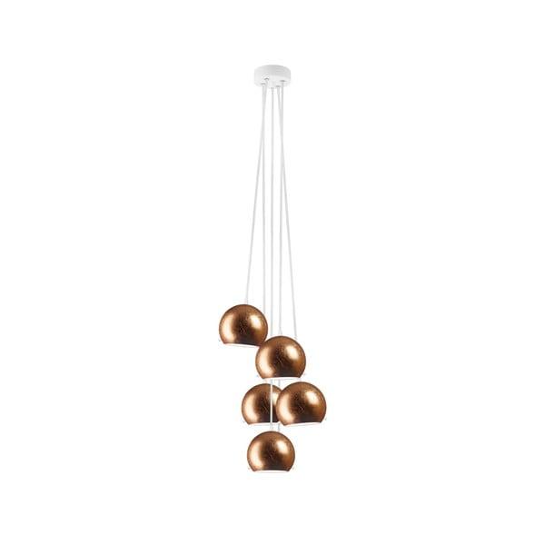 Päť svetiel MYOO Elementary, copper/white/white