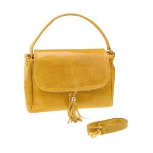 Kožená kabelka Diadema, žltá