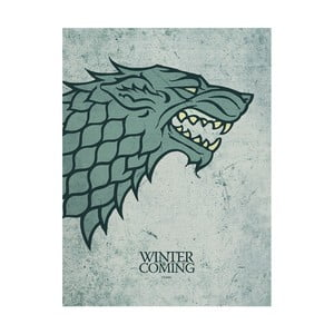 Obraz Pyramid International Game of Thrones Stark, 60 × 80 cm