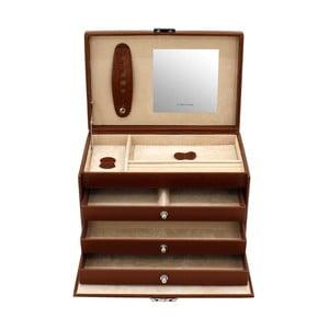 Šperkovnica Classico Brown, 24x15x16 cm