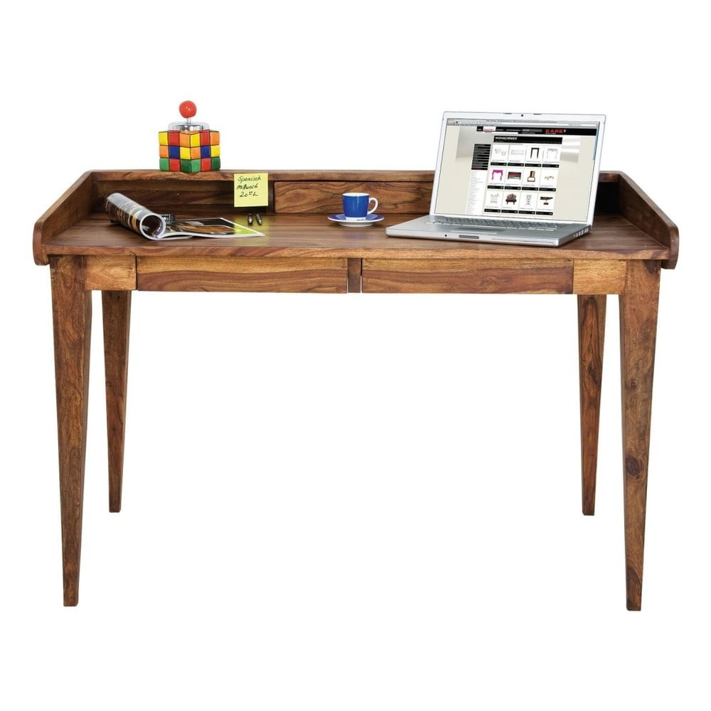 Pracovný stôl z exotických drevín Kare Design Authentico