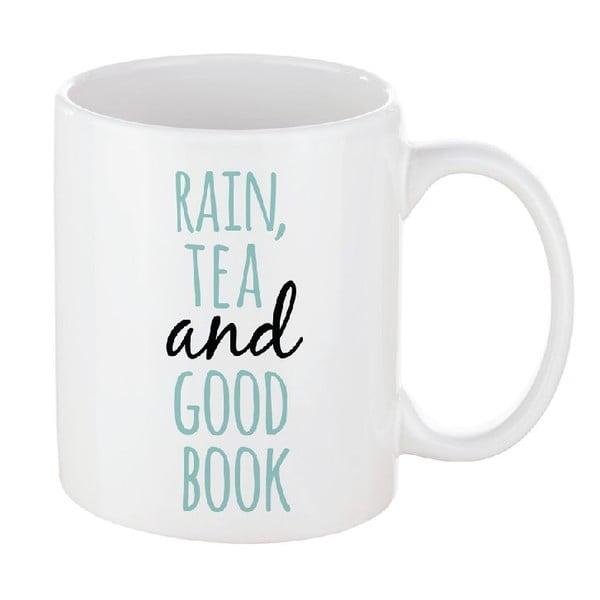 Porcelánový hrnček We Love Home Rain & Tea, 300 ml
