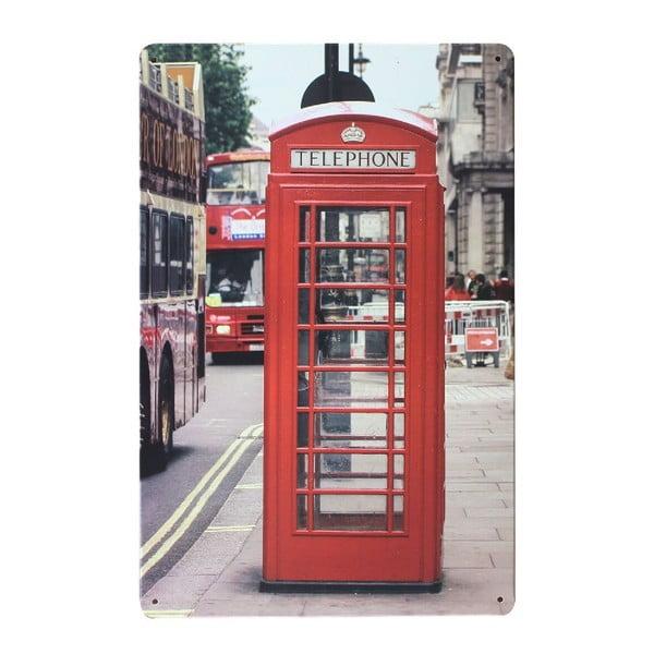 Ceduľa London Kiosk, 20x30 cm